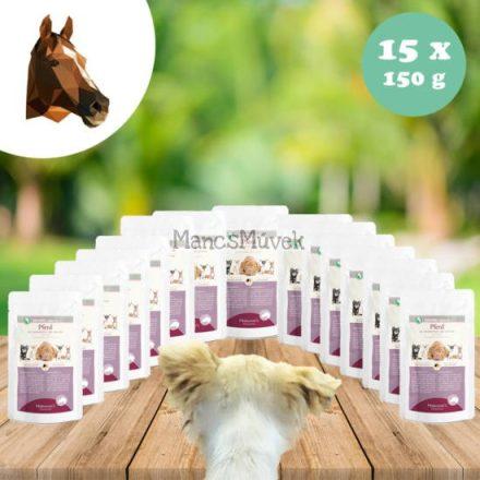 Laktóz-és glutén, -gabonamentes lóhús menü kutyának 15 x 150 g