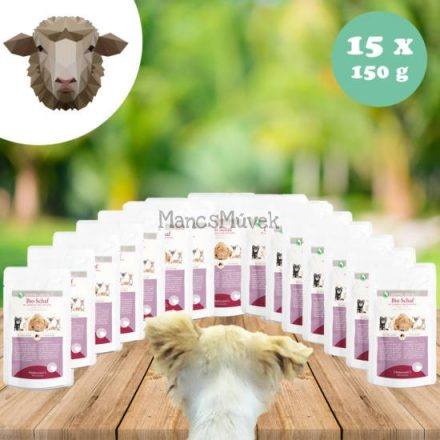 Laktóz-és glutén-, gabonamentes bio bárány menü kutyának 15 x 150 g