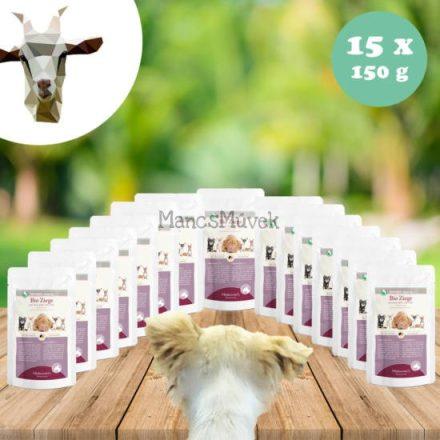 Laktóz-és gluténmentes kecskehús menü kutyáknak 15 x 150 g