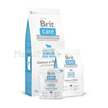 Junior salmon & potato - grain-free- hipoallergén kutyatáp -Brit Care