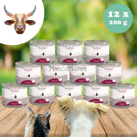 Bio 100% marhahús monoprotein kutyának, macskának - 12 x 200 g