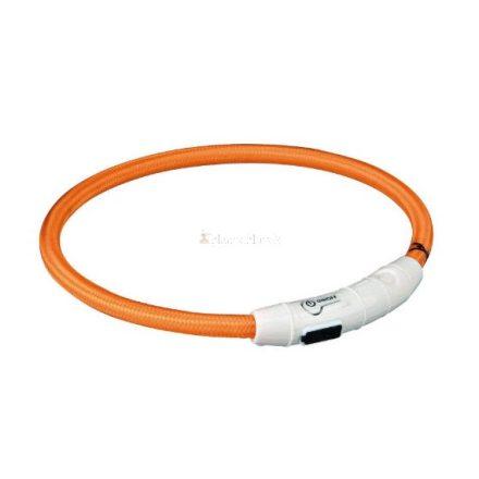 Trixie USB - világító nyakörv-karikaTrixie  kutyának - narancssárga - (XS-XL)