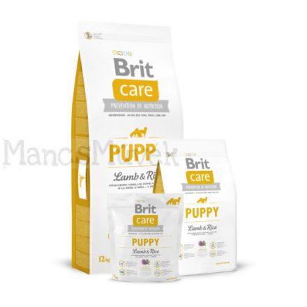 1 kg - PUPPY - LAMB & RICE - BRIT CARE - GABONAMENTES KUTYATÁP
