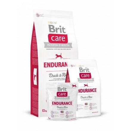 12kg Brit Care Endurance - Duck & Rice  - kacsa és rizs, aktív felnőtt kutyának