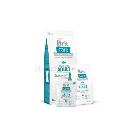 ADULT SALMON & POTATO grain-free - gluténmentes hipoallergén kutyatáp - Brit Care