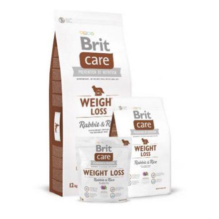 weight loss rabbit and rice  grain-free - gluténmentes hipoallergén kutyatáp - Brit Care
