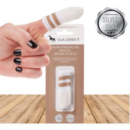 Ujjra húzható ezüstionos fogkefe kutyáknak és macskáknak, Lila Loves It